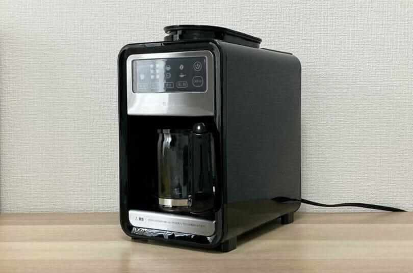 プラススタイルの全自動コーヒーメーカーの実機画像