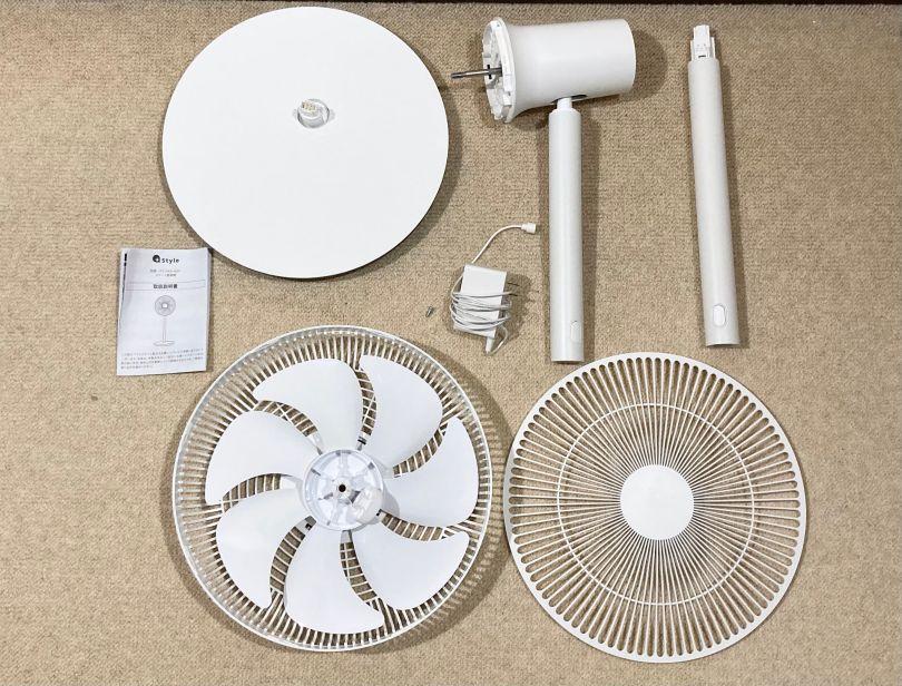 +Styleスマート扇風機の同梱品