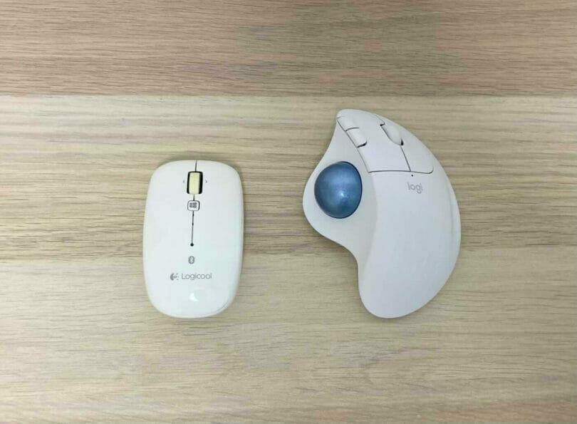 通常のマウスとM575の大きさの違い