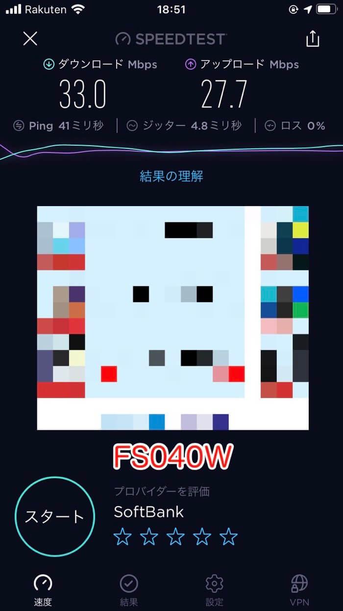 FS040Wのスピードテスト