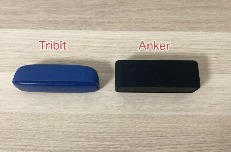 Xsound surfとAnker Soundcore 3のサイズ比較