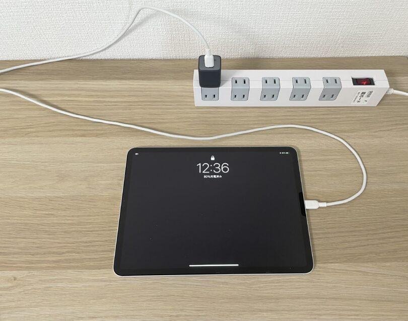 iPad 80%充電時点での状態