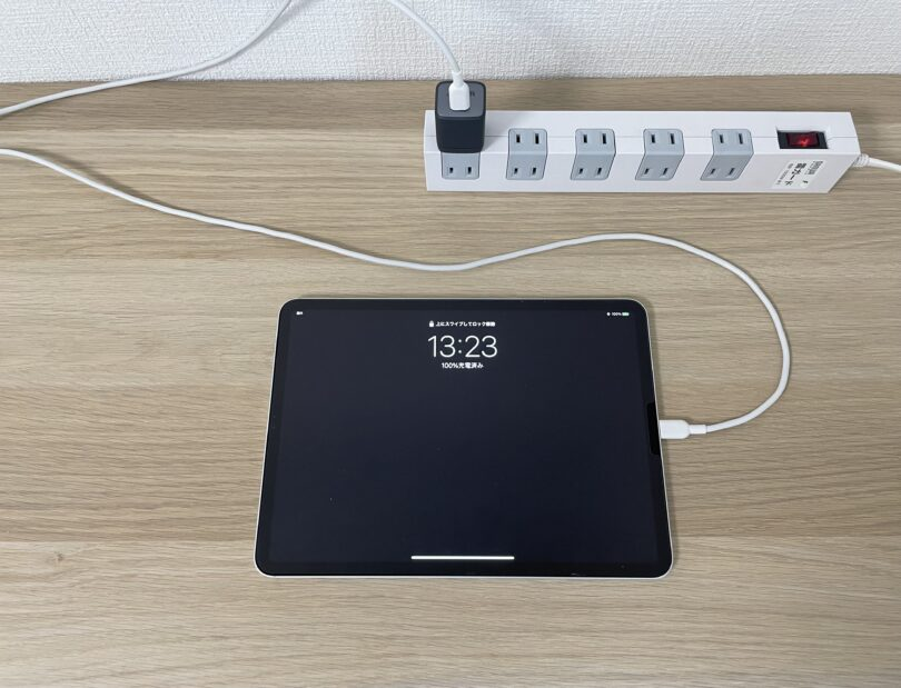 iPad 100%充電の状態
