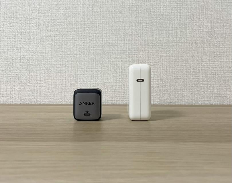 Nano II 65WとApple純正61Wの比較