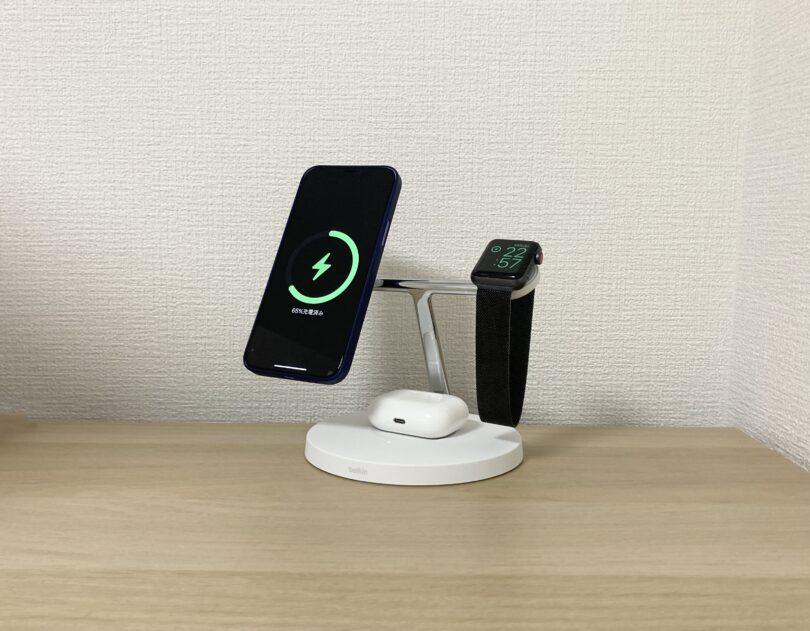 iPhone 12・Apple Watch・AirPods Proを充電してみた