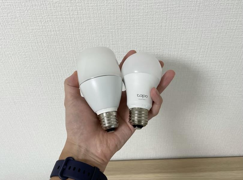 スマート電球とのサイズ比較