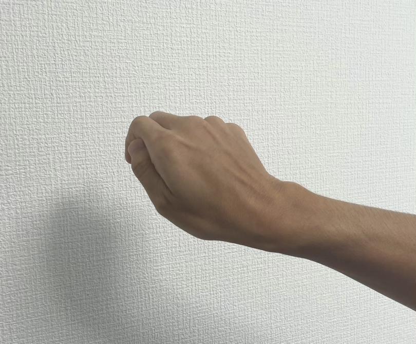 EVERINGを手で握っておけば、パット見わからない